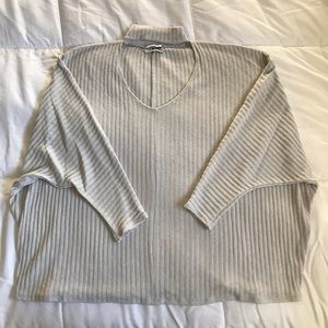 Urban Outfitters gray sweater with cutout neckline
